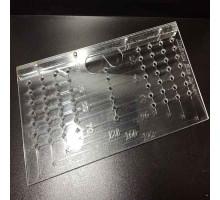 Шаблон для разметки отверстий под мебельные ручки 96-192 мм