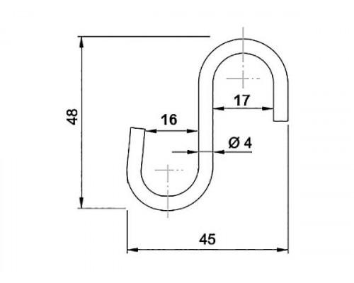 Гачок труби-рейлинга d = 16 GIFF хром
