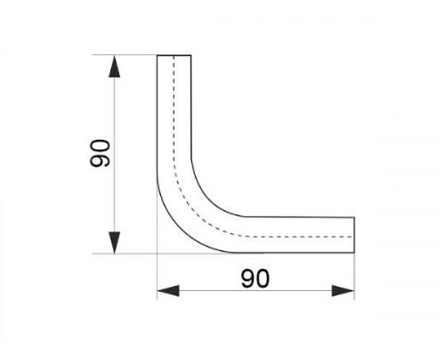 Кут з'єднувальний труби-рейлинга d = 16 90 * золото