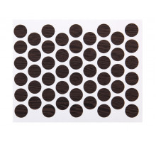 Заглушка конфірмат самоклеюча Weiss d=14 бук шоколадний (50 шт) (7104)