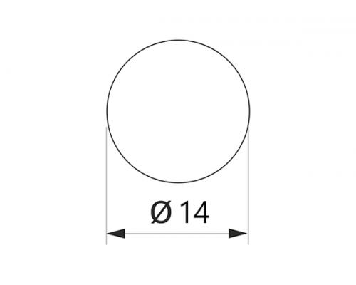 Заглушка конфірмат самоклеюча Weiss d=14 Вудлайн крем (50 шт) (1424)